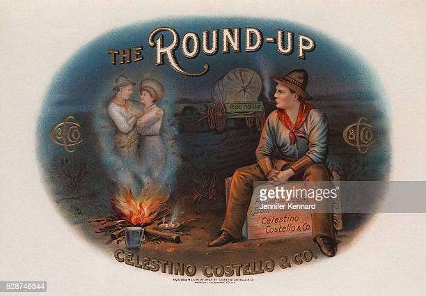 The RoundUp Cigar Box Label