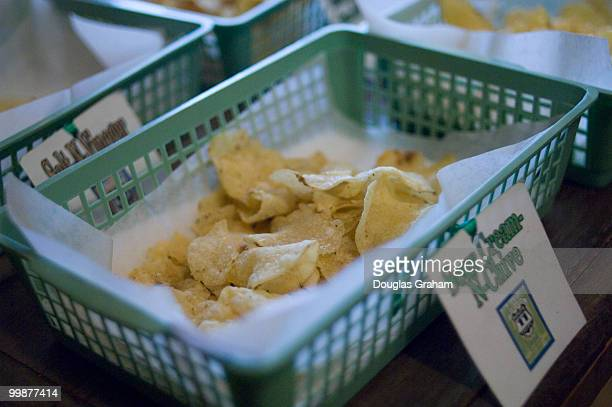 The Route 11 potato chip factory in Middletown Virginia where all the products are handcooked The showroom is a free for all in chip tasting and hot...