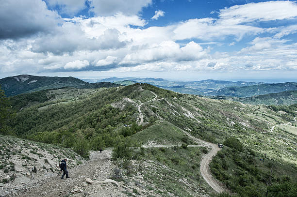 the route in the mountains of the pollino where the pictures