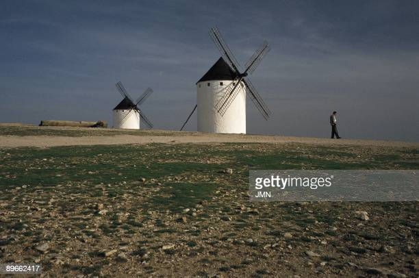The Route of Don Quijote Windmills at Campo de Criptana Ciudad Real The Route of Don Quijote travels the places of La Mancha evoked by Cervantes in...