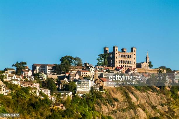 the rova of manjakamiadana in antananarivo - antananarivo stock photos and pictures