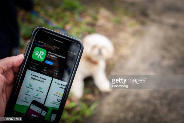 The Rover application for download in the Apple App Store on a smartphone arranged in Dobbs Ferry, New York, U.S., on Thursday, April 1, 2021. One of...