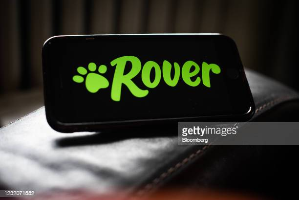 The Rover logo on a smartphone arranged in Dobbs Ferry, New York, U.S., on Thursday, April 1, 2021. One of the signs that Covid-19's hold over...