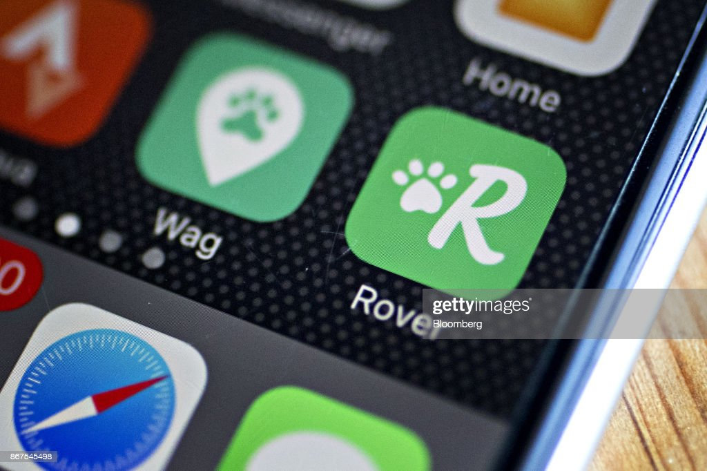 The Rover com and Wag Labs Inc  application icons are seen