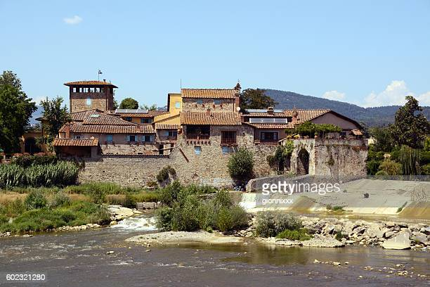 the rovezzano mill, florence, tuscany - traditional windmill stock photos and pictures