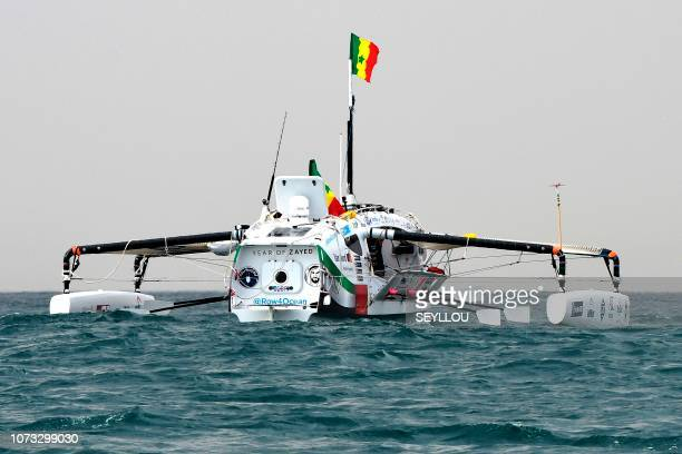 The Row4ocean rowing trimaran leaves Dakar to cross the Atlantic on December 14 2018 A rowing trimaran took off on December 14 2018 from Dakar for a...