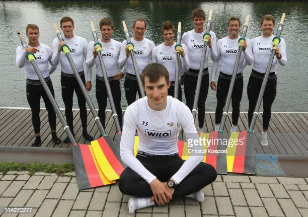 The Rowing Eight of Germany with Gregor Hauffe, Adnreas Kuffner, Eric Johannesen, Richard Schmidt, Florian Mennigen, Lukas MUeller, Toni Seifert,...