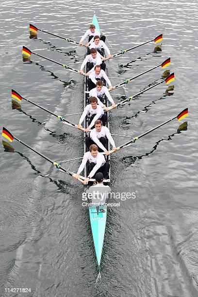 The Rowing Eight of Germany with Martin Sauer, Kristof Wilke, Toni Seifert, Lukas Mueller, Florian Menningen, Richard Schmidt, Eric Johannesen,...