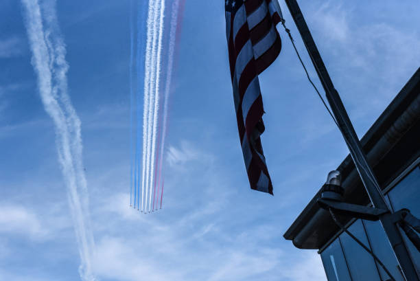 NY: Royal Air Force Red Arrows Join The U.S. Air Force Thunderbirds For NYC Flyover