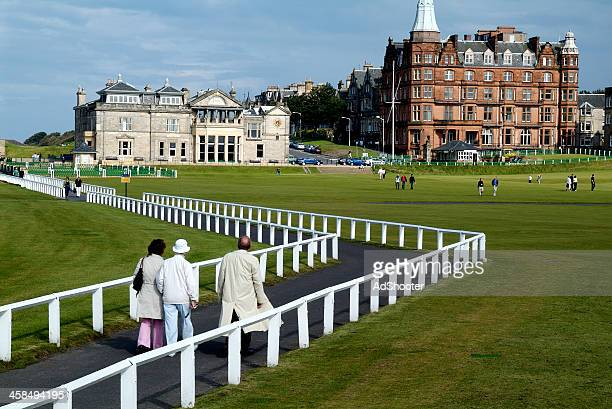 the royal & ancient st. andrews golf club - st. andrews scotland stock pictures, royalty-free photos & images