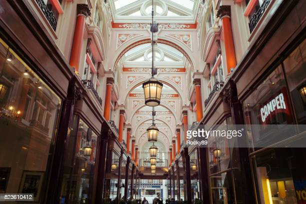 the royal arcade, london, uk - the mall westminster stock photos and pictures