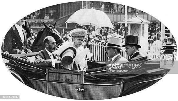 The royal arrival at Ascot c1930s King George V Queen Mary and two of their sons Prince Henry Duke of Gloucester and the Prince of Wales arrive for...
