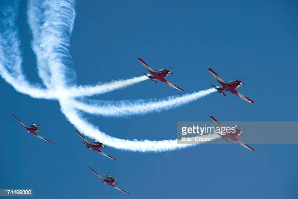 The Royal Australian Air Force aerobatic team performing for the 2007 Clipsal 500 in Adelaide, South Australia.