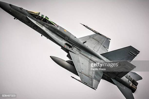 The Royal Australian Air Force F/A18 Hornet first air display at the annual 'Wings Over Illawarra' Airshow at the Illawarra Regional Airport