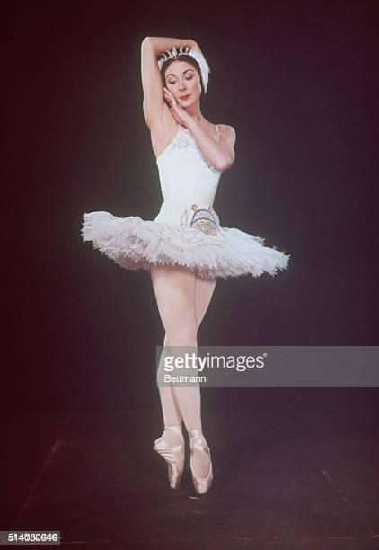 The Royal Ballet Company's Prima Ballerina Dame Margot Fonteyn as Princess Odette in Swan Lake Composer Pyotr Ilyich Tchaikovsky