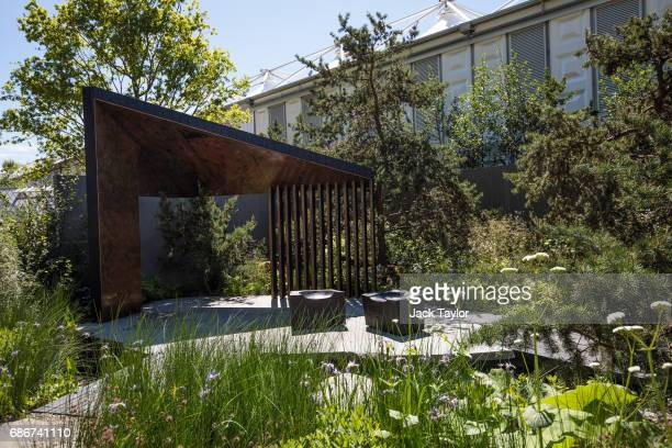 The 'Royal Bank of Canada Garden' on display at the Chelsea Flower Show on May 22 2017 in London England The prestigious Chelsea Flower Show held...