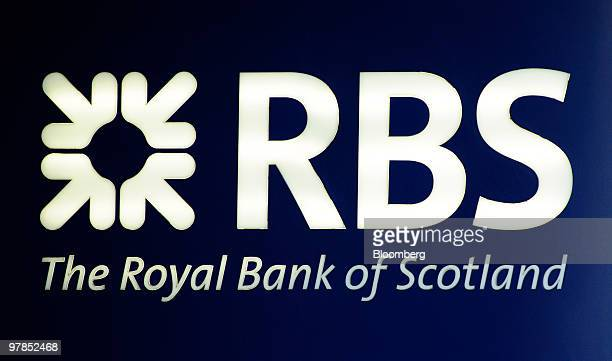 The Royal Bank of Scotland logo is displayed outside a branch in London UK on Thursday March 18 2010 UK mortgages approved by the six biggest banks...