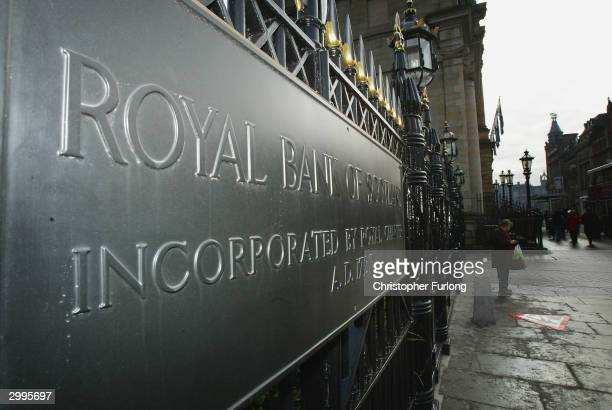 The Royal Bank of Scotland's aministrative headquarters in St Andrews Square on February 19 2004 in Edinburgh Scotland The bank has unveiled an...