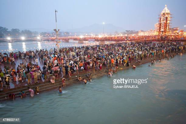 CONTENT] The Royal Bath during the Khumbh Mela in Haridwar in Uttarakhand India on the 12th of February 2010 during the Maha Shivratri Pratham Shahi...