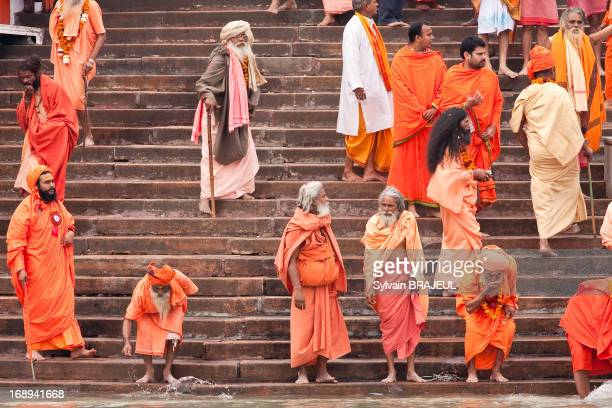 CONTENT] The Royal Bath of the nagas sadhus during the Khumbh Mela in Haridwar in Uttarakhand India on the 12th of February 2010 during the Maha...