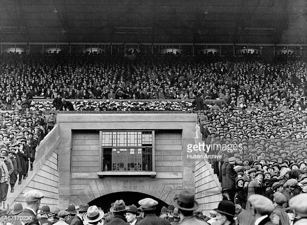 The Royal Box and part of the huge crowd during the FA Cup Final between Bolton Wanderers and West Ham United 28th April 1923 This was the first...
