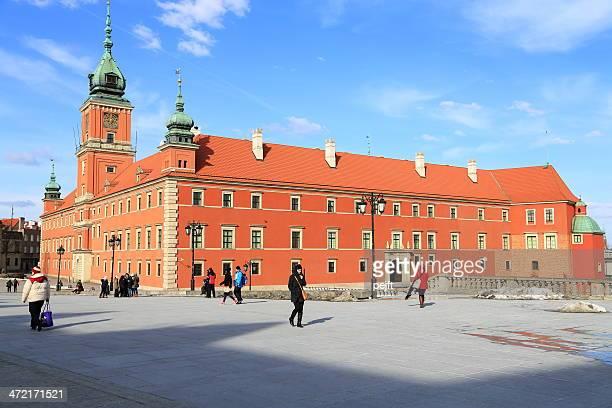 das königliche schloss square, warschau - pejft stock-fotos und bilder