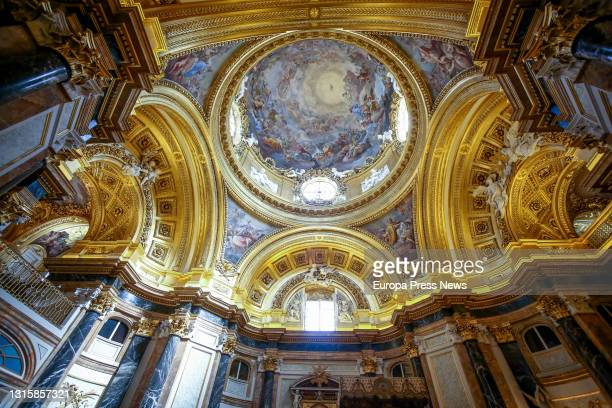 The Royal Chapel of the Royal Palace, after its reopening in the Royal Palace of Madrid, on 2 May, 2021 in Madrid, Spain. In addition to this room,...