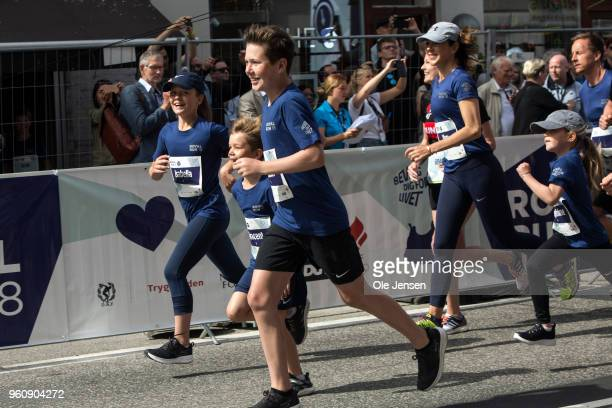 The Royal children with Prince Christian and Princess Isabella in the lead followed by Princess Josephine and Prince Vincent and their mother Crown...