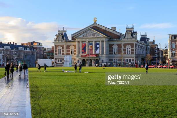 the royal concertgebouw,concert hall in amsterdam, netherlands - concert hall stock pictures, royalty-free photos & images
