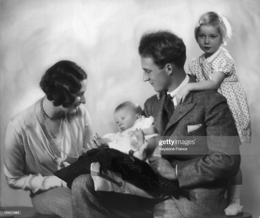 Princess Astrid And Prince Leopold Of Belgium With Their Children Around 1930-1931 : News Photo