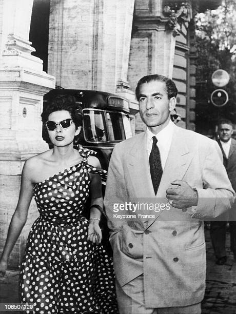 The Royal Couple Of Iran In Exile In Rome After Being Forced To Leave Iran By Mossadegh After Their Disagreement About The British And American...