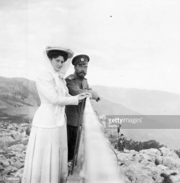 The royal couple of russia tsar nicholas ll and tsarina alexandra fyodorovna