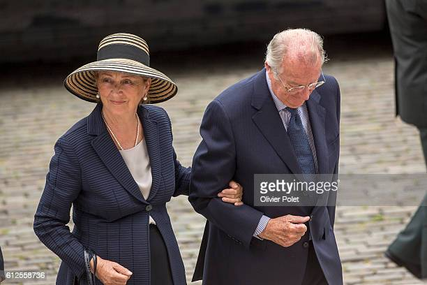 The Royal couple, Queen Mathilde and King Philippe attend a mass on the occasion of the 20th anniversary of King Boudewijn / Baudouin's death, at the...