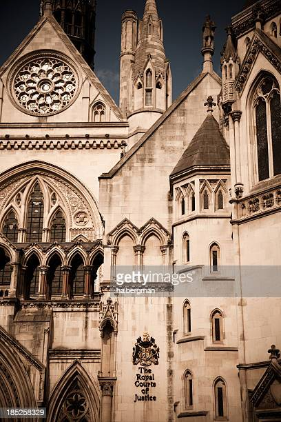 the royal courts of justice building, london uk - royal courts of justice stock pictures, royalty-free photos & images