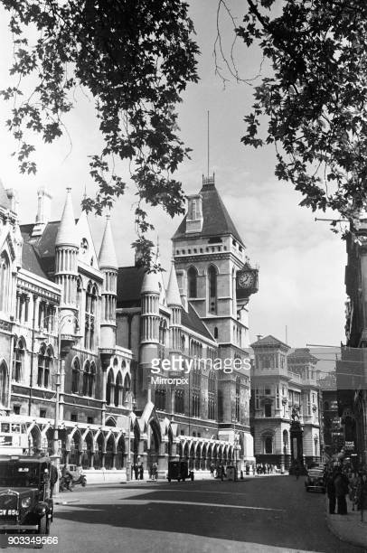 The Royal Courts of Justice commonly called the Law Courts Designed by George Edmund Street who died before it was completed in the 1870s and opened...