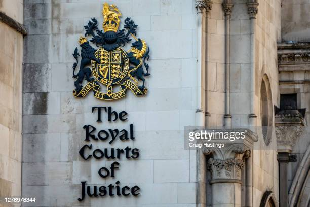 the royal courts of justice in london, england - courthouse stock pictures, royalty-free photos & images