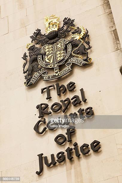 The Royal Courts of Justice insignia