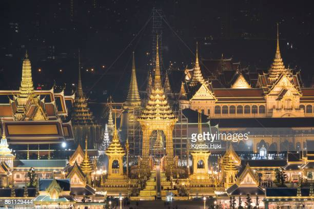 The Royal Crematorium for The King Bhumibol Adulyadej in the public square Sanam Luang, Bangkok, Thailand