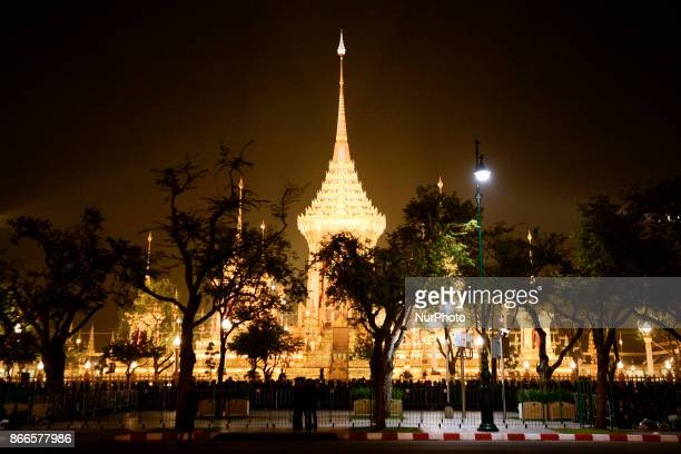 The Royal Crematorium site is seen before the funeral procession for Thailand's late King Bhumibol Adulyadej near the Grand Palace in Bangkok...