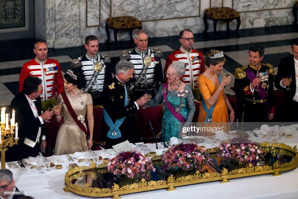 King Philippe And Queen Mathilde Visit Denmark - Day 1 : Nieuwsfoto's
