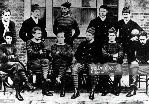 The Royal Engineers team who competed in the first English FA Cup Final losing 10 to the Wanderers at the Kennington Oval in London 16th March 1872
