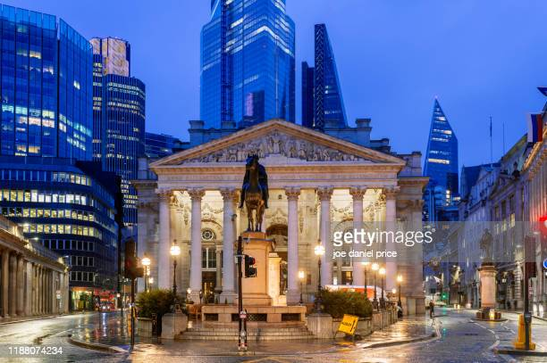the royal exchange, city of london, london, england - central bank stock pictures, royalty-free photos & images