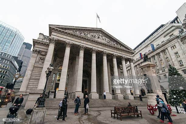 The Royal Exchange gets ready for Christmas with a tree by the brand Mont Blanc The site was notably occupied by the Lloyd's insurance market for...