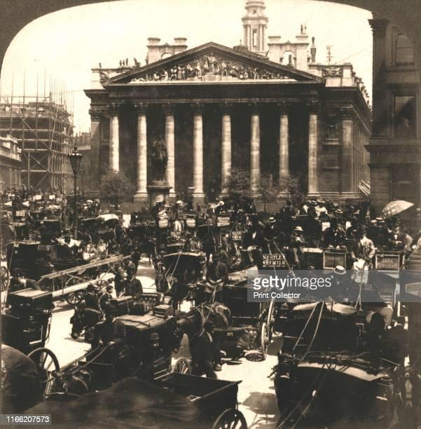 "The Royal Exchange, London', 1896. From ""Underwood and Underwood Publishers, New York-London-Toroto Canada-Ottawa Kansas. "". Artist Works and Sun..."