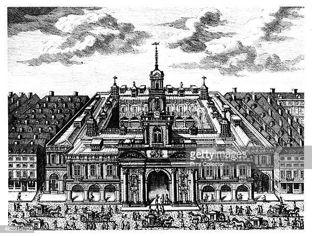 The Royal Exchange London late 17th century This is the second building which replaced the original built by Sir Thomas Gresham which was destroyed...