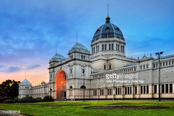 the royal exhibition building, melbourne, victoria, australia - carlton gardens stock pictures, royalty-free photos & images