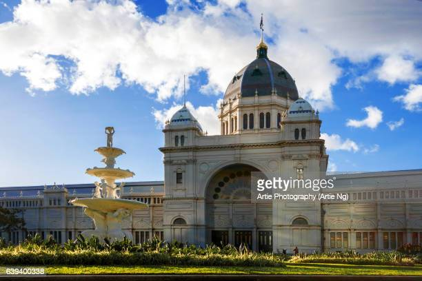 the royal exhibition building, melbourne, victoria, australia - dome stock pictures, royalty-free photos & images