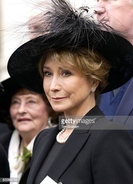 The Royal Family And Friends Returned To Westminster Abbey Today For A Memorial Service To Celebrate The Life Of Princess Margaret Actress Felicity...
