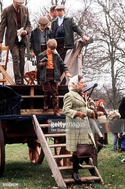 The Royal Family At Badminton Horse Trials Princess Margaret Prince Edward Lord Linley Prince Andrew