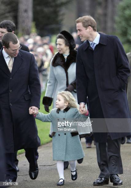 The Royal Family attend Christmas Day service at Sandringham Church Prince William and Peter Phillips hold hands with their cousin Margarita...